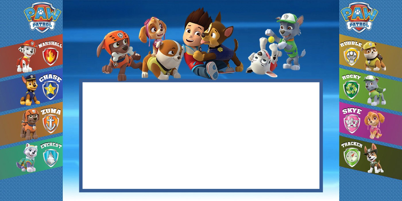 Custom Paw Patrol Invitation Card