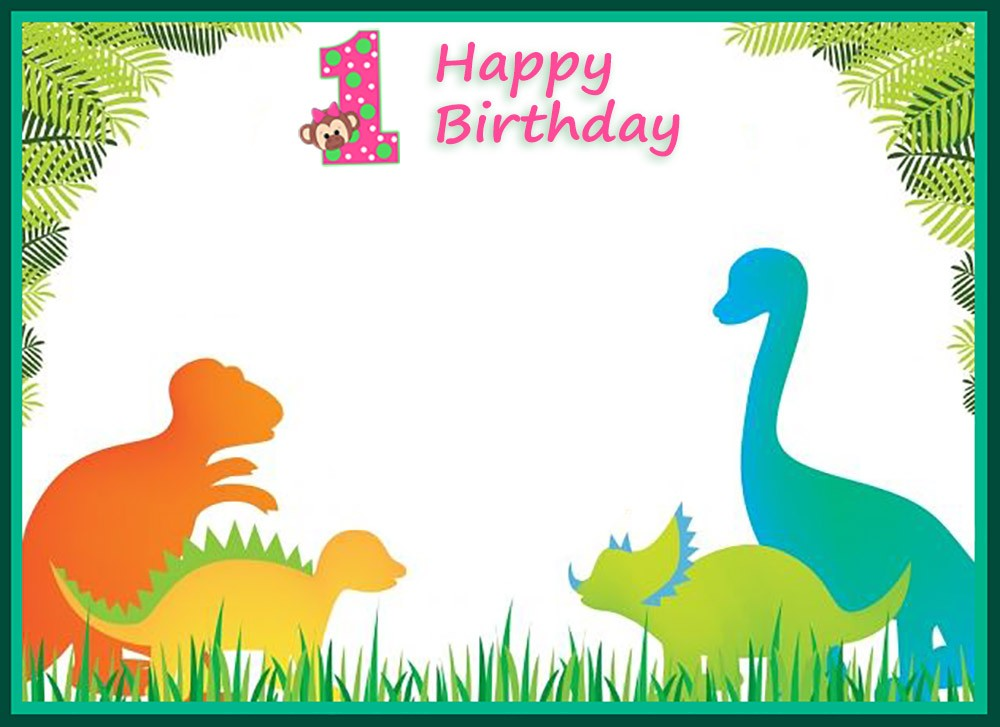 First Birthday Dinosaur Invitation Template Invitations Online
