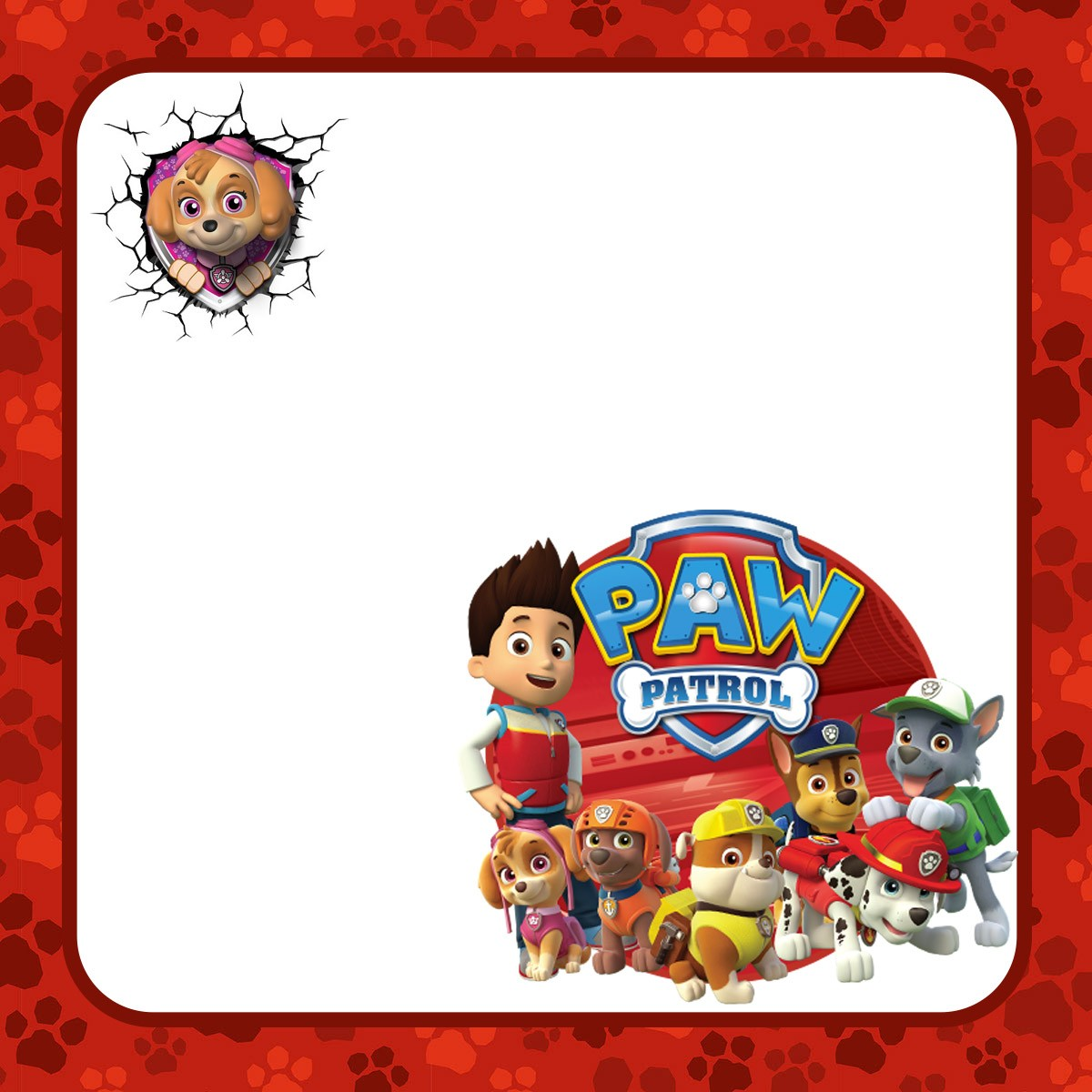 Free Online Paw Patrol Birthday Invitation