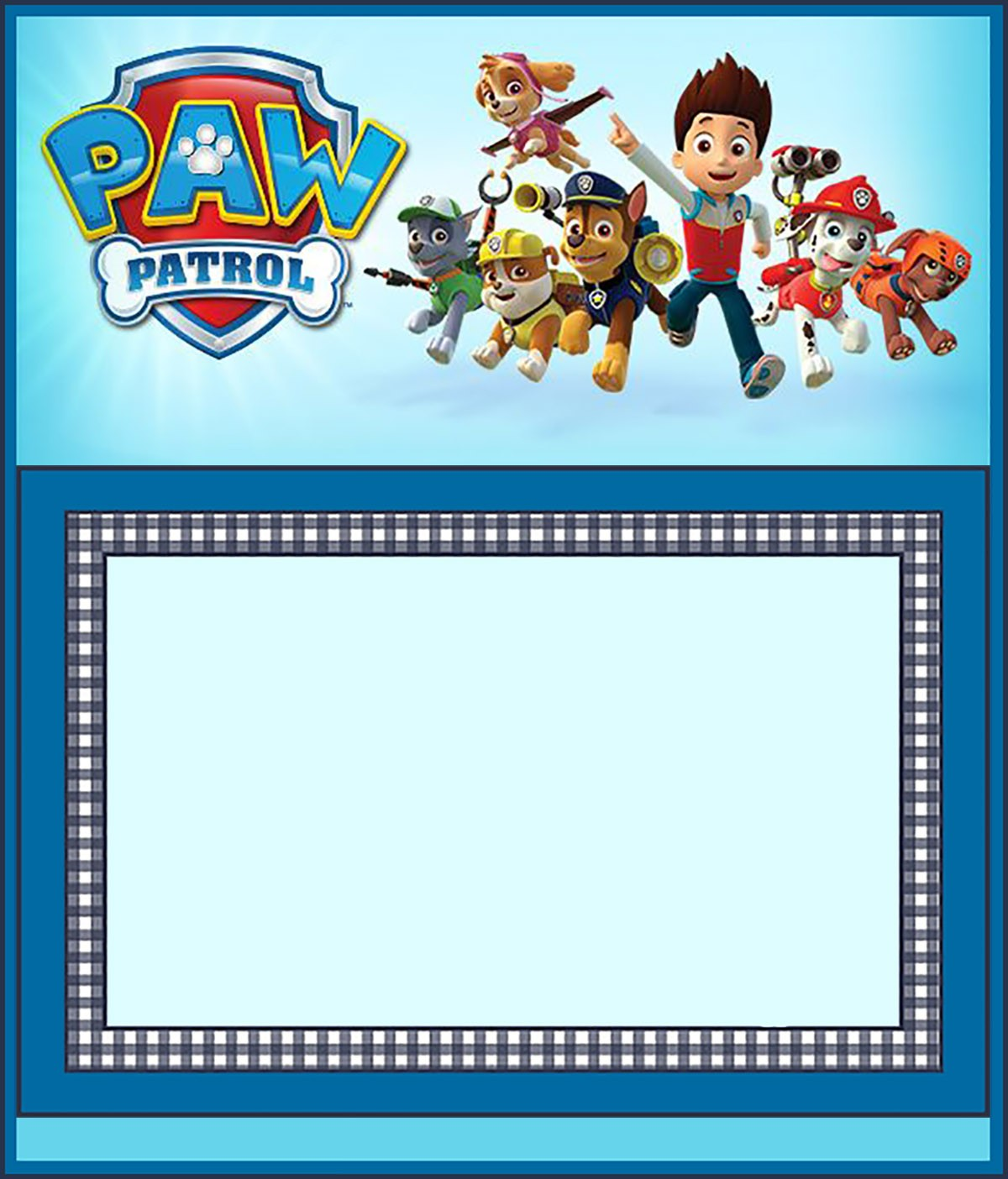 Free Paw Patrol Invitation Template | Invitations Online