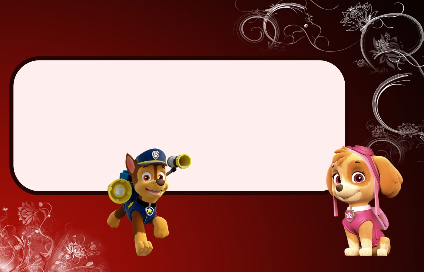 Free Printable Paw Patrol Invitation Template Chase And Skye