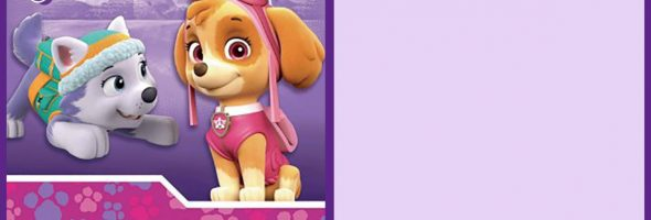 Free Printable Paw Patrol Party Invitation Card 590x200