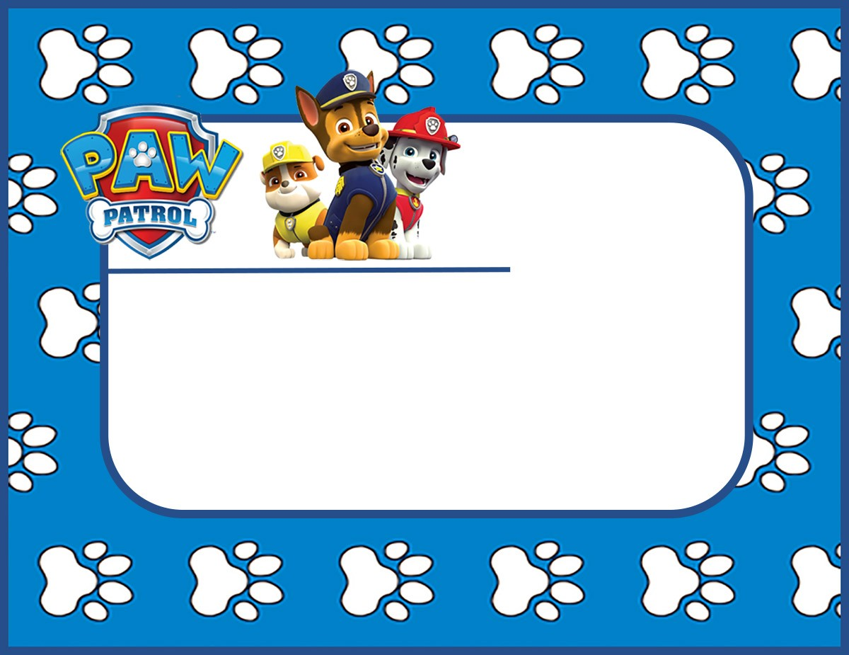 Paw Patrol Birthday Invitation Template Invitations Online - Paw patrol invitation template