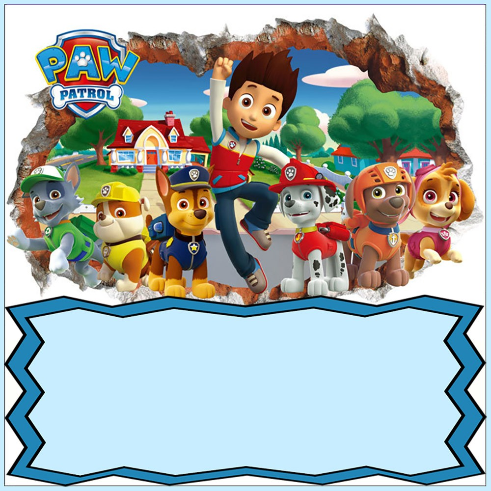 Paw Patrol Invitation Card Design