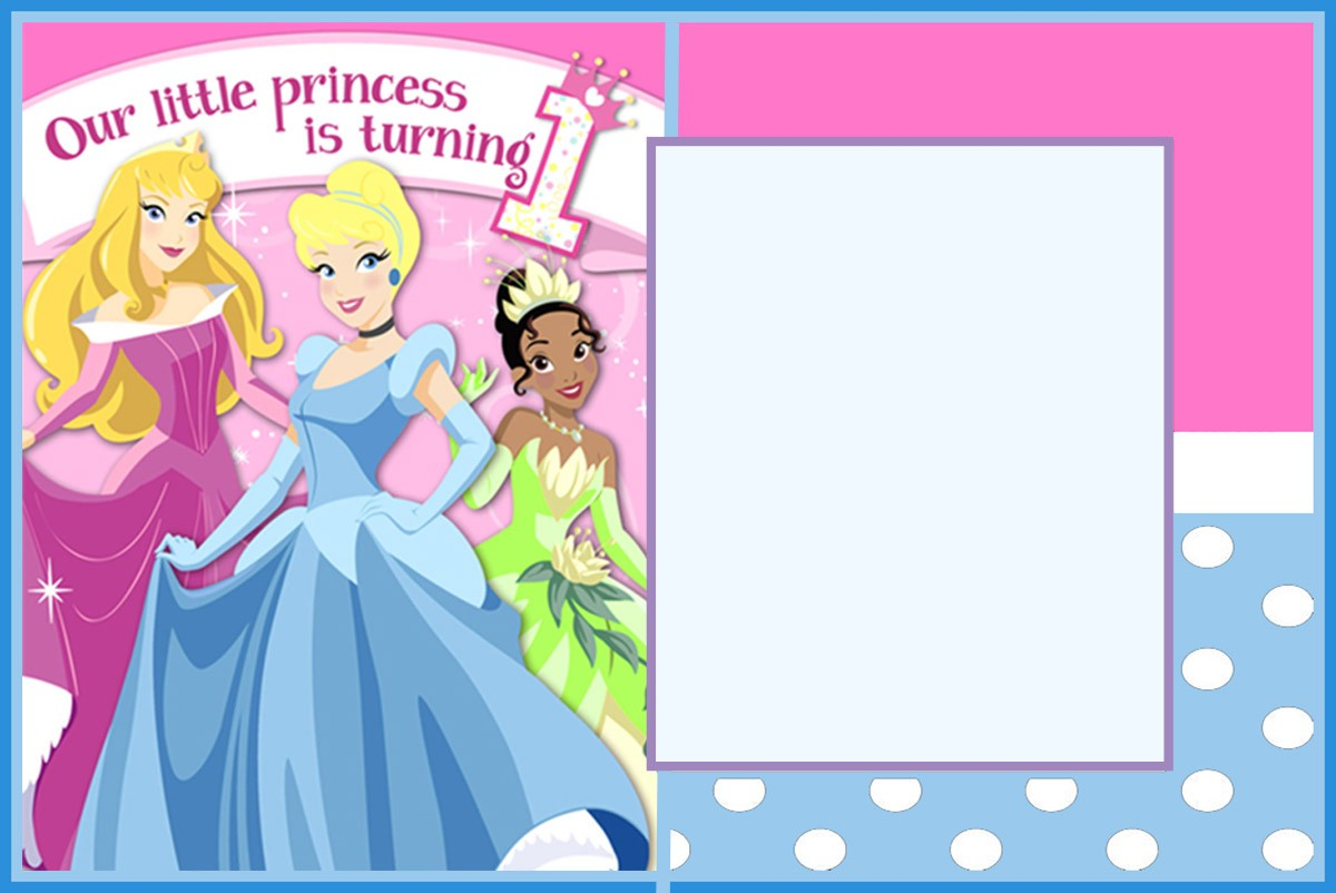 Princess First Birthday Invitation Template