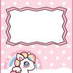 Free Printable Baby Unicorn Invitation Template 150x150
