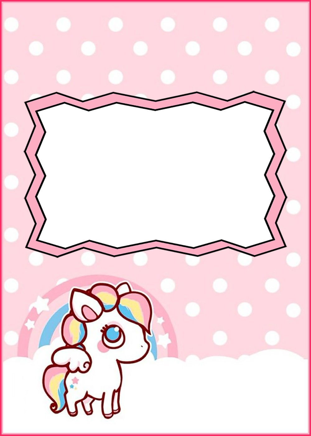 Free Printable Baby Unicorn Invitation Template | Invitations Online