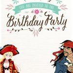Free Printable Pirate Birthday Invitation Card 150x150