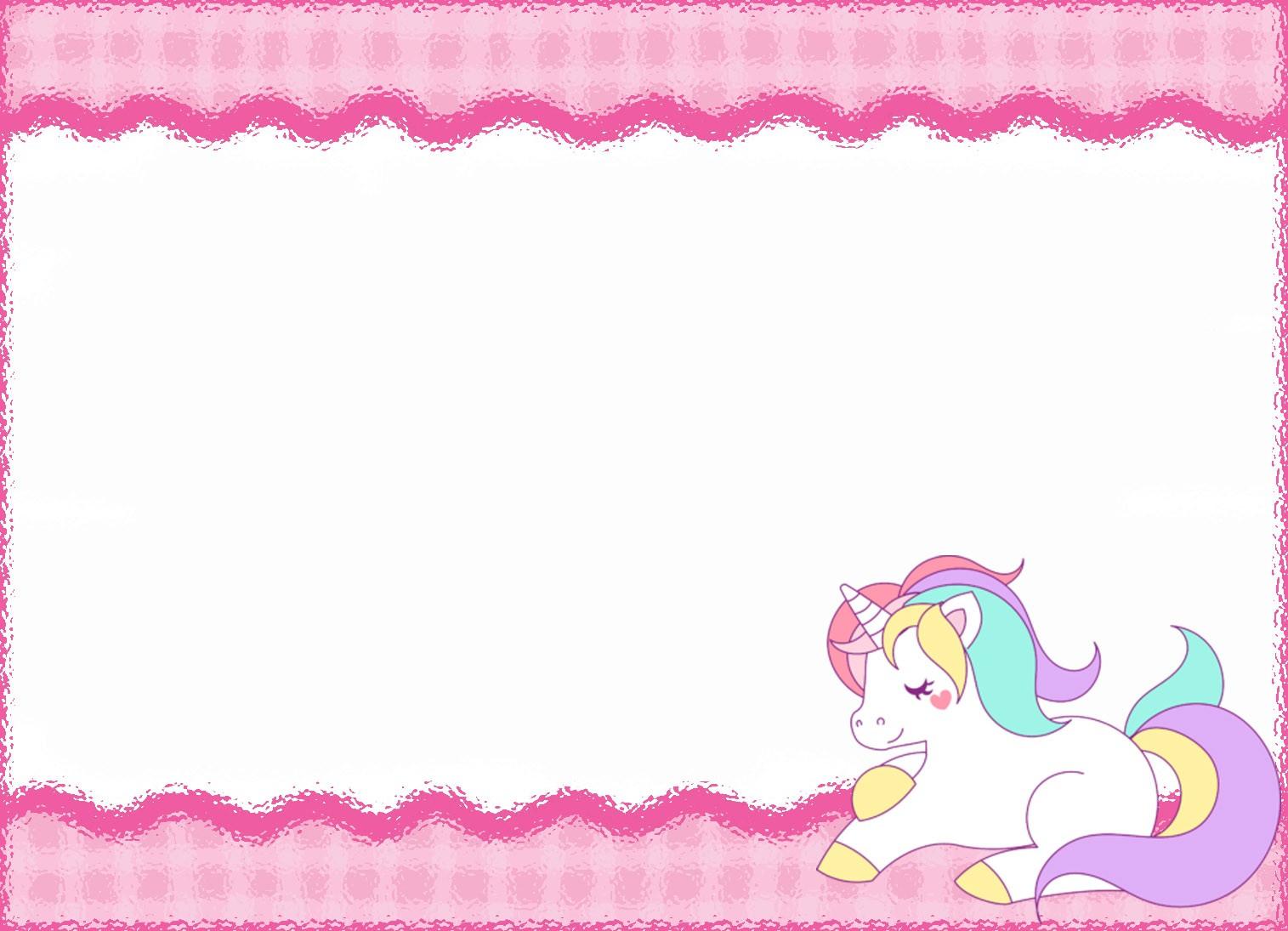 unicorn invitation templates