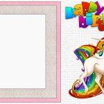 Free Printable Unicorn Birthday Party Invitation Template 150x150