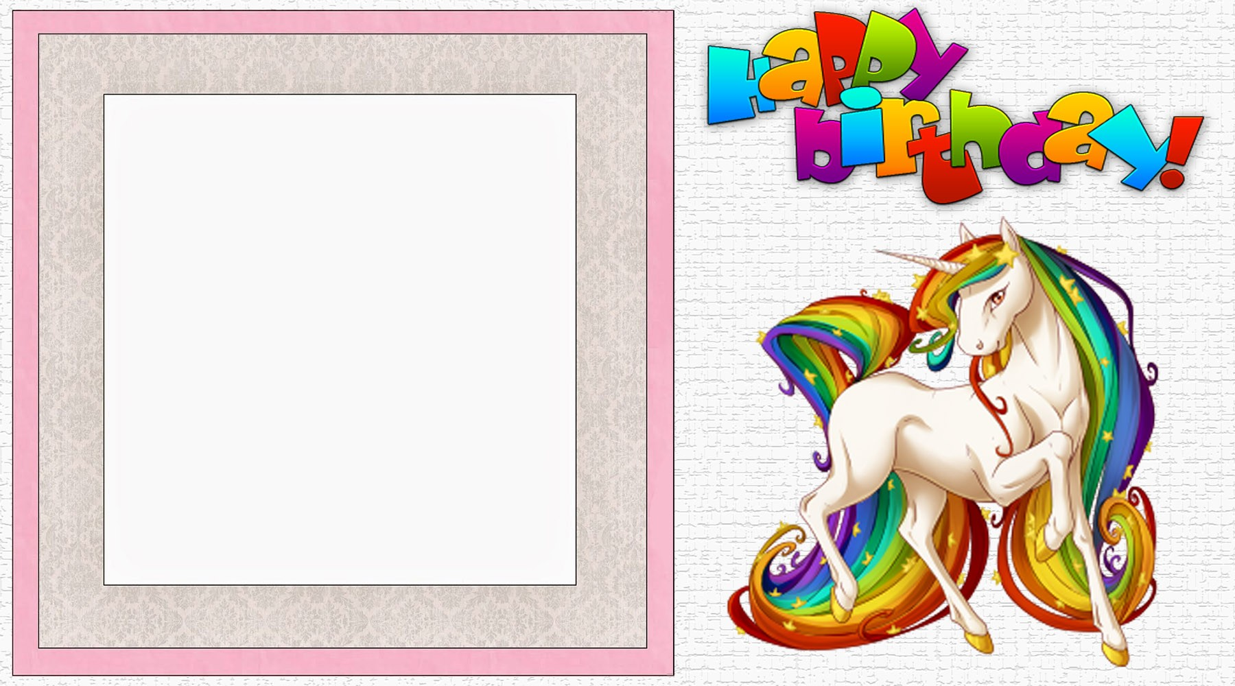 Free Printable Unicorn Birthday Party Invitation Template