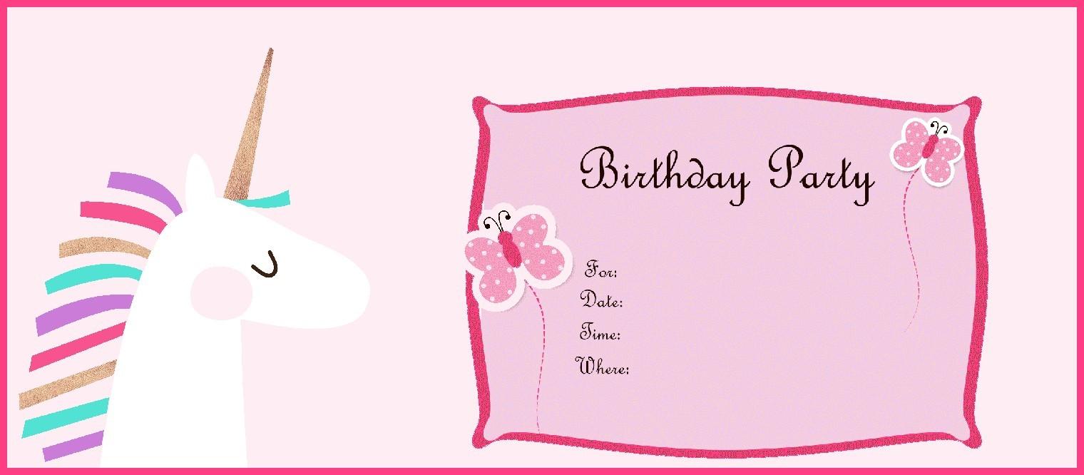 birthday invitation online free