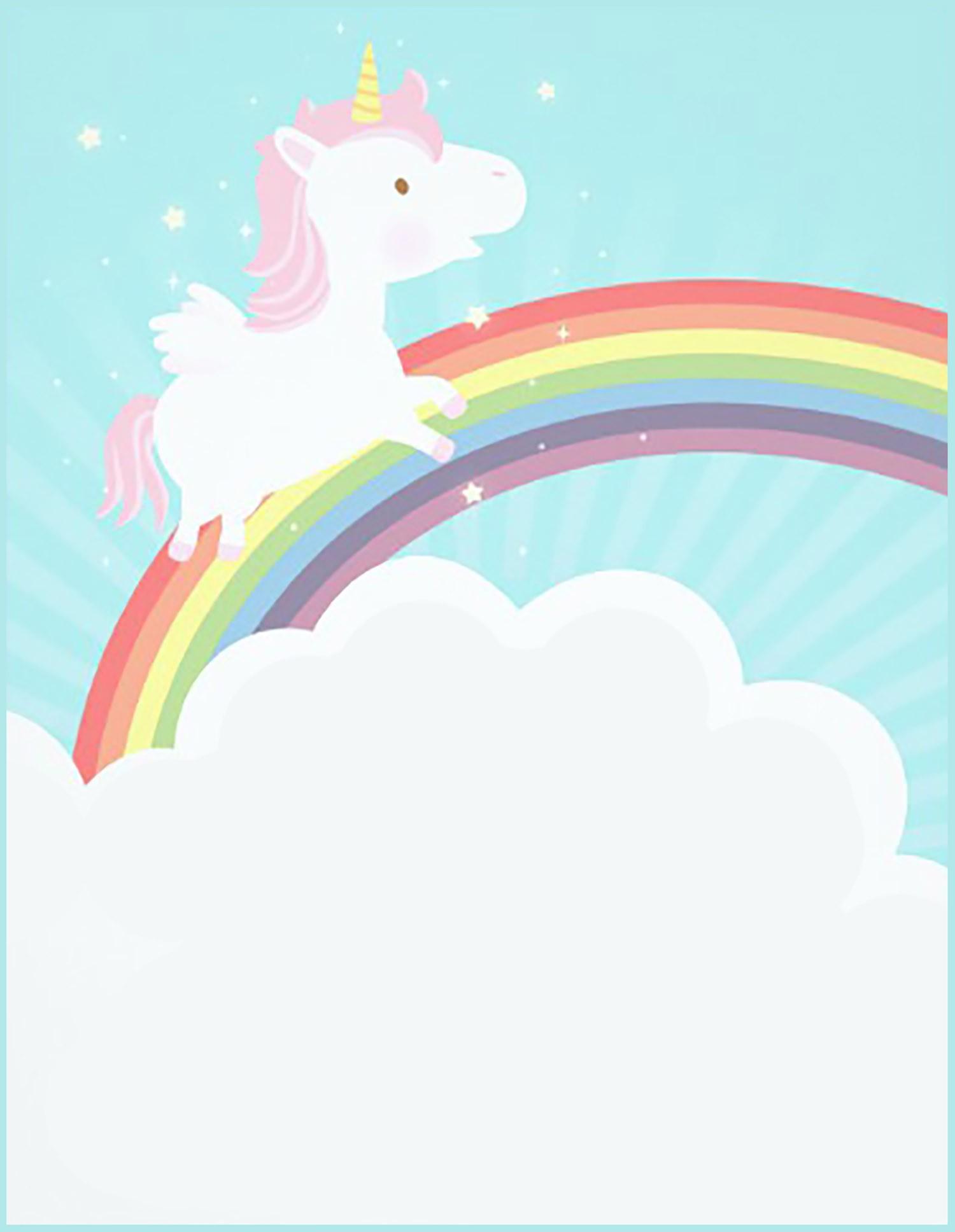 Free Printable Unicorn Invitation Card | Invitations Online