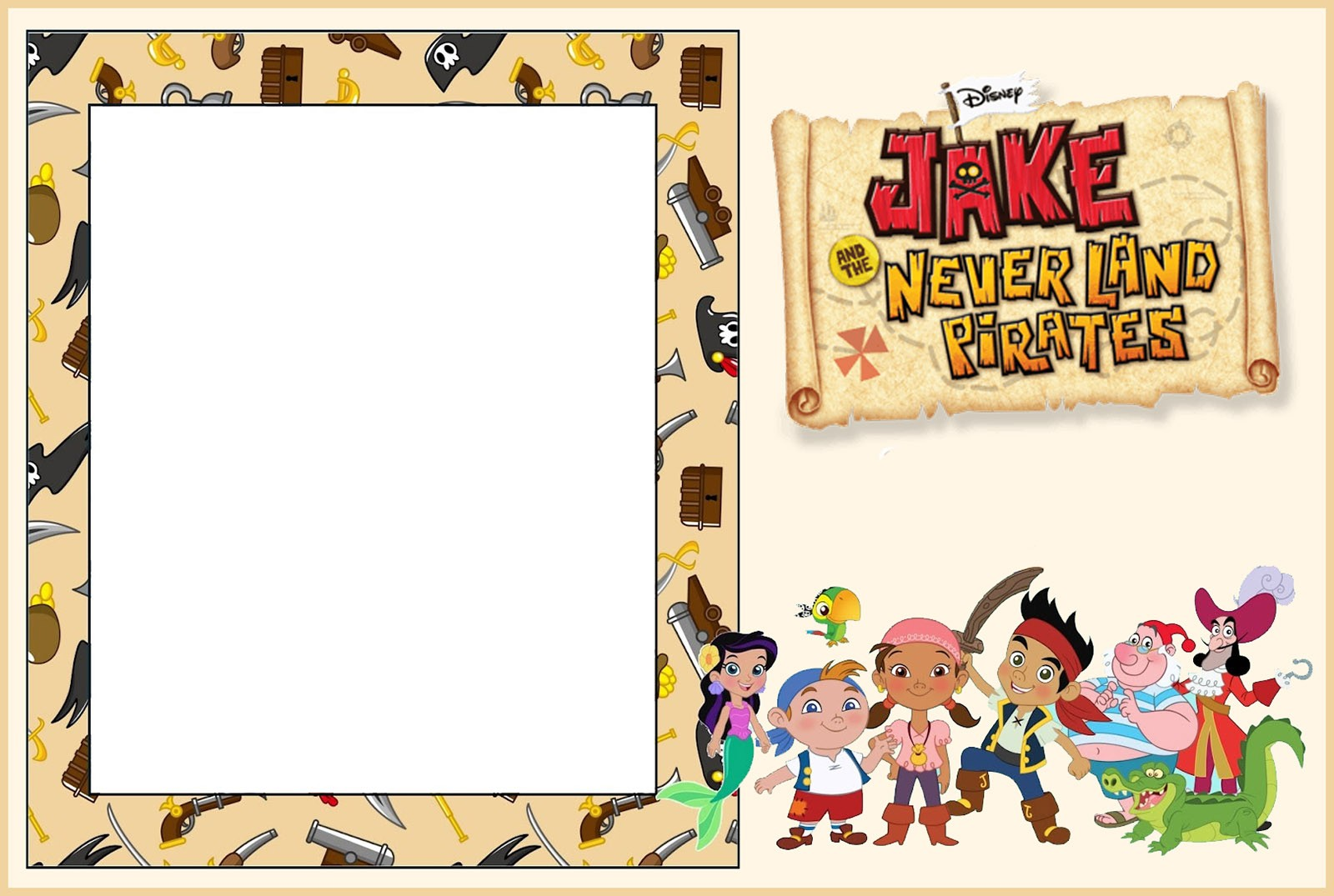 Jake And Neverland Pirates Invitation Template
