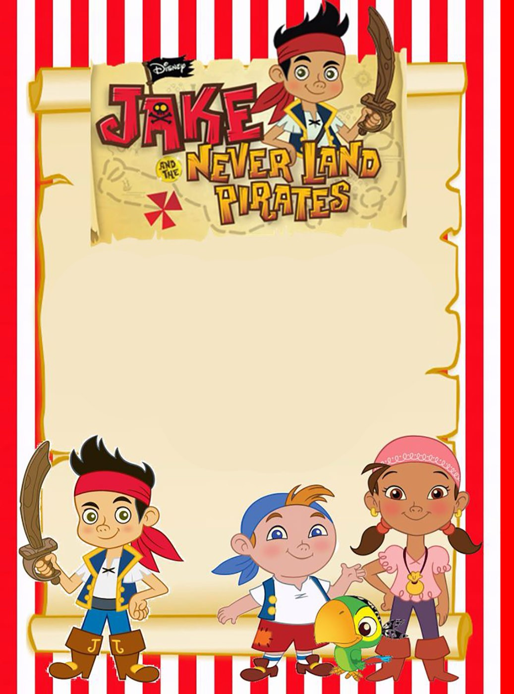Printable jake and neverland pirates invitation template printable jake and neverland pirates invitation template filmwisefo