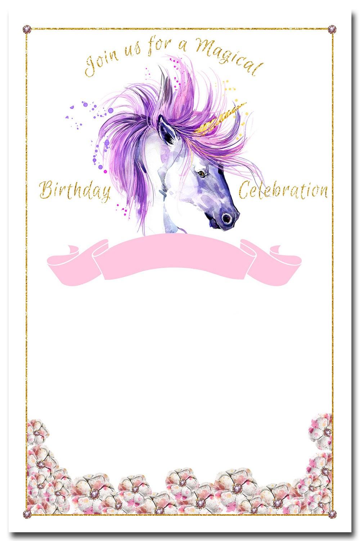 Unicorn Invitation Templates Designed To Meet The