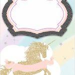 Unicorn Invitation Template 150x150