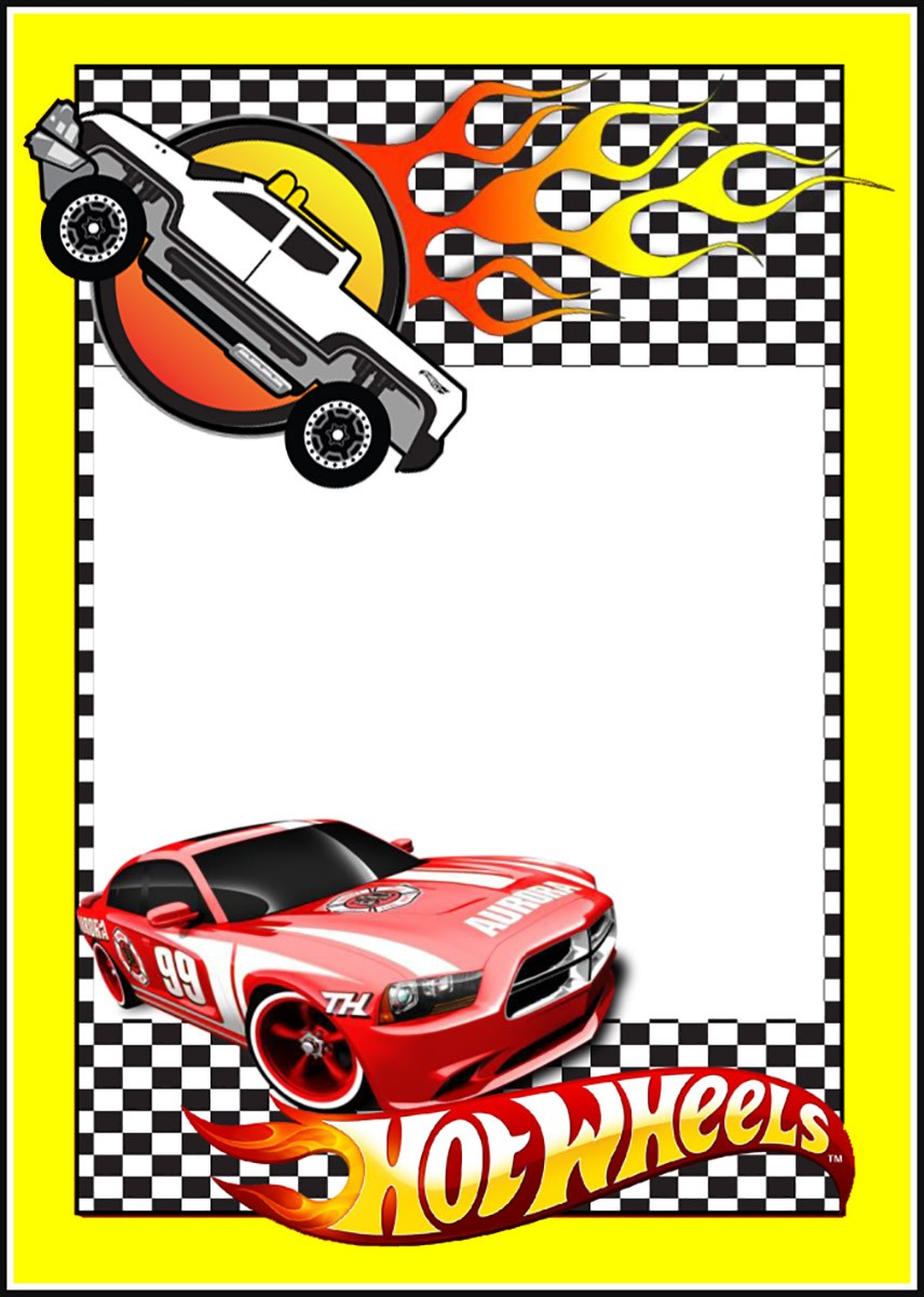 Free Printable Hot Wheels Invitation Templates for ...