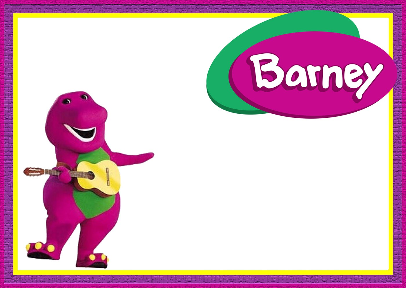 Barney the dinosaur party invitation template invitations online barney the dinosaur party invitation template monicamarmolfo Images