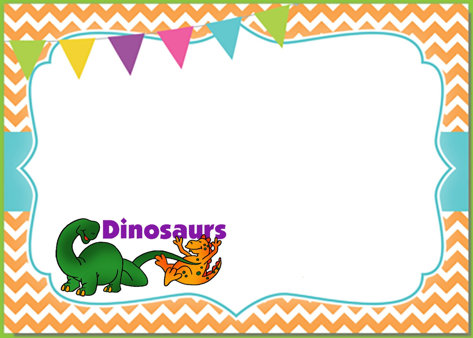 6 printable invitation templates for a dinosaur birthday
