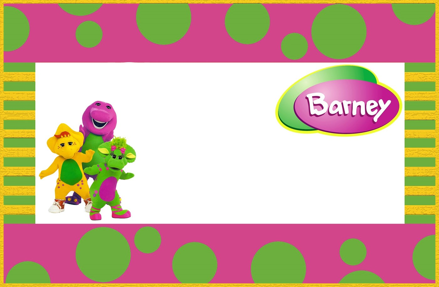 Free Printable Barney The Dinosaur Invitation Template