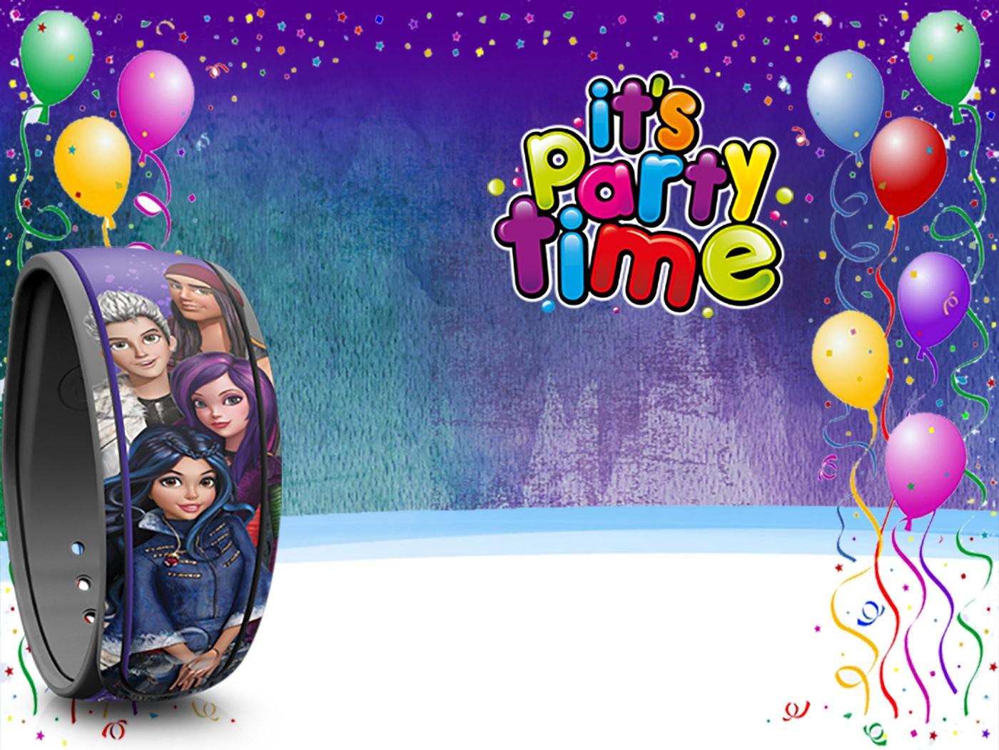 Free Printable Descendants Party Invitation Template