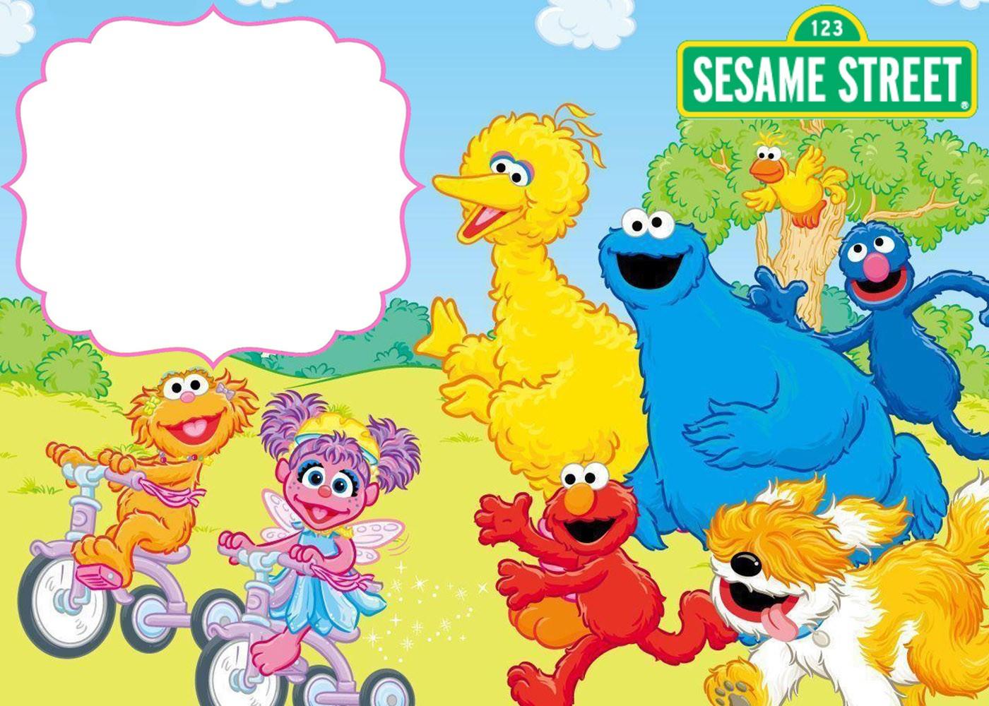Free Printable Sesame Street Invitation Templates Invitations Online