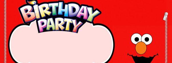 Editable Elmo Birthday Invitation 602x220