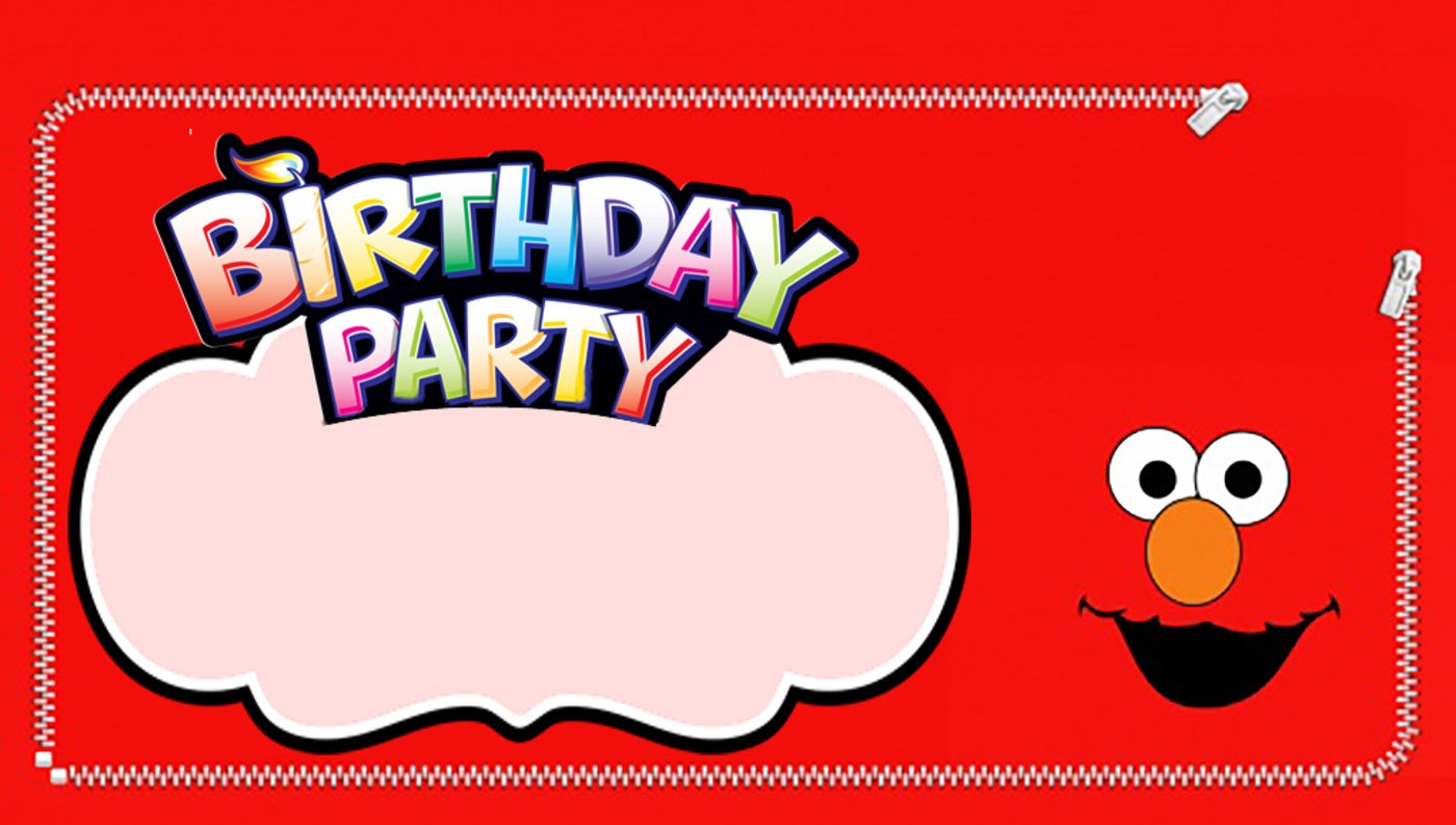 Editable Elmo Birthday Invitation