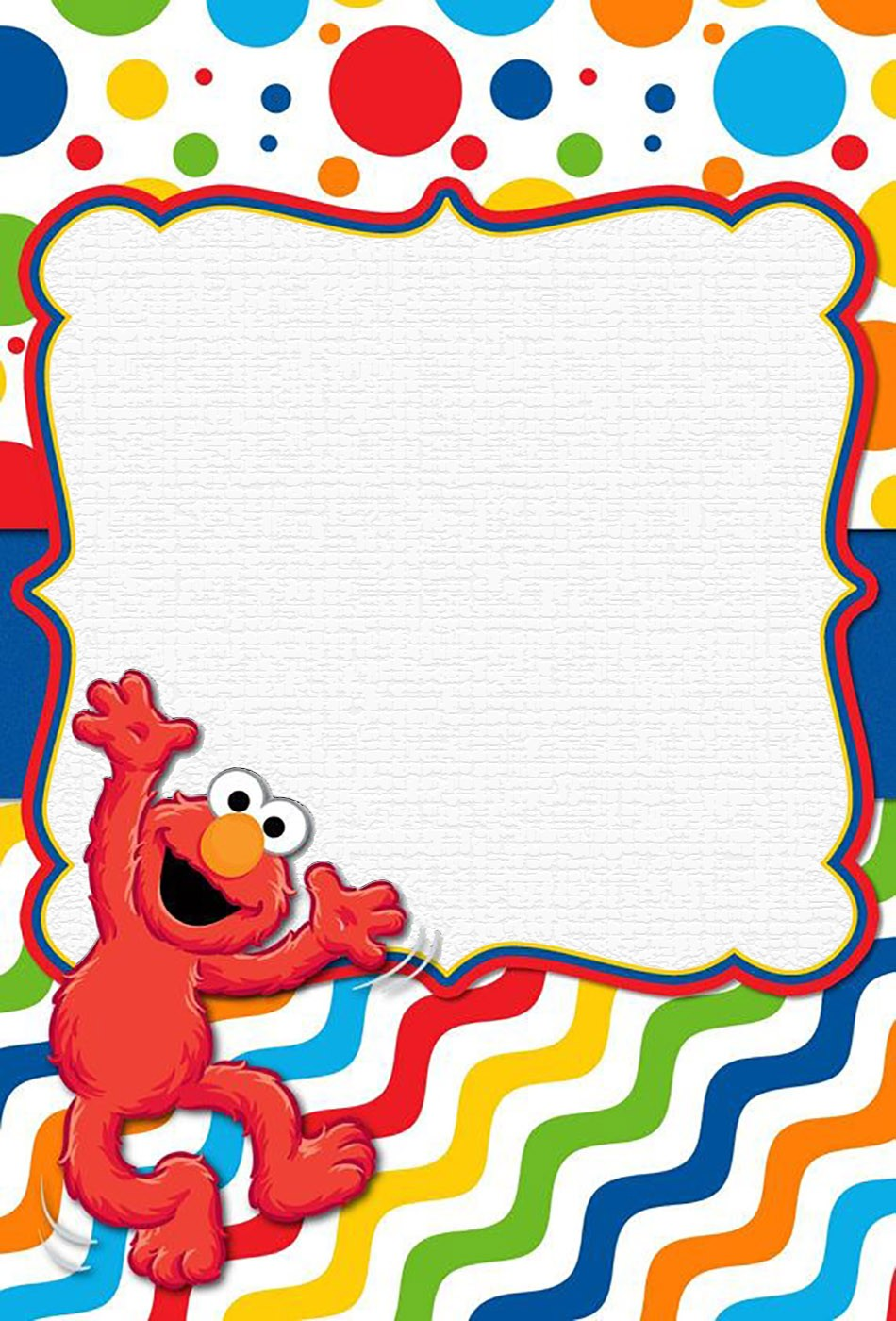 Free Online Elmo Invitation Template Invitations Online