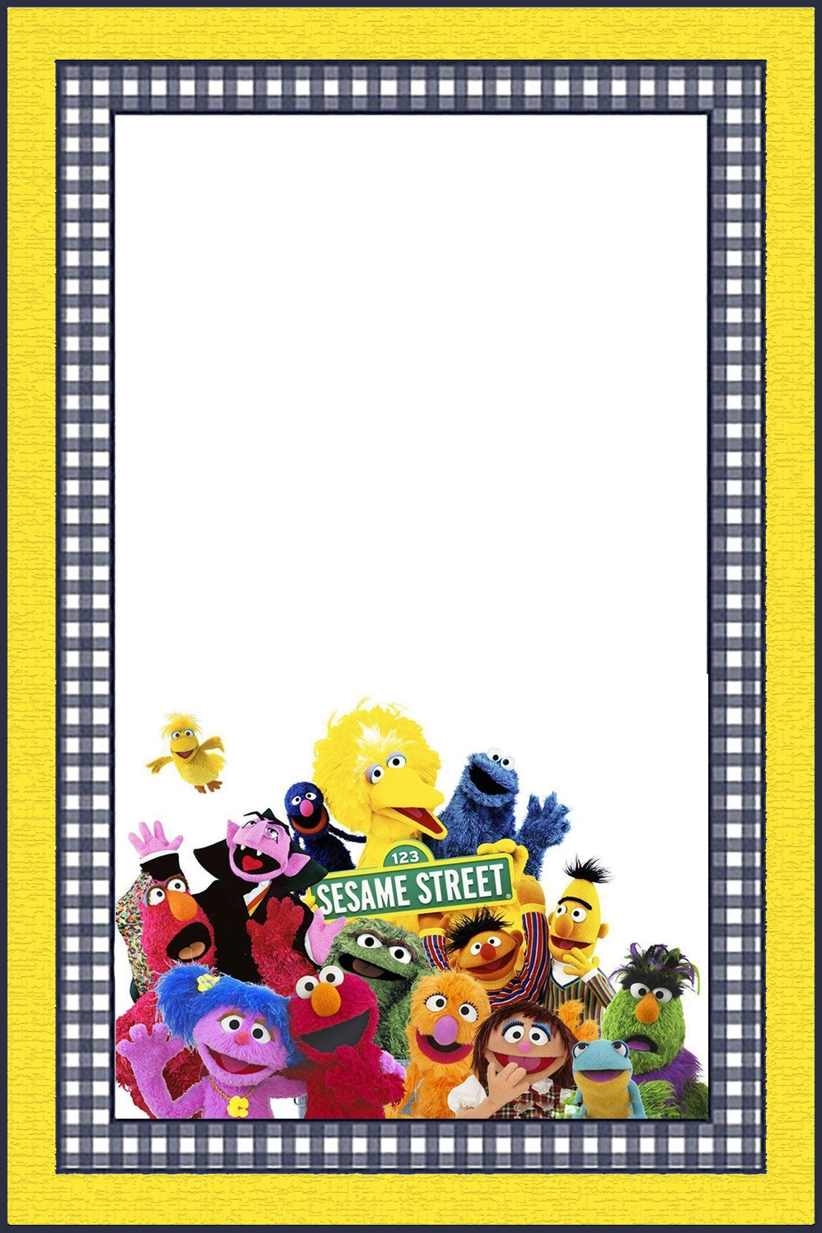 Free Online Sesame Street Invitation Template Invitations Online
