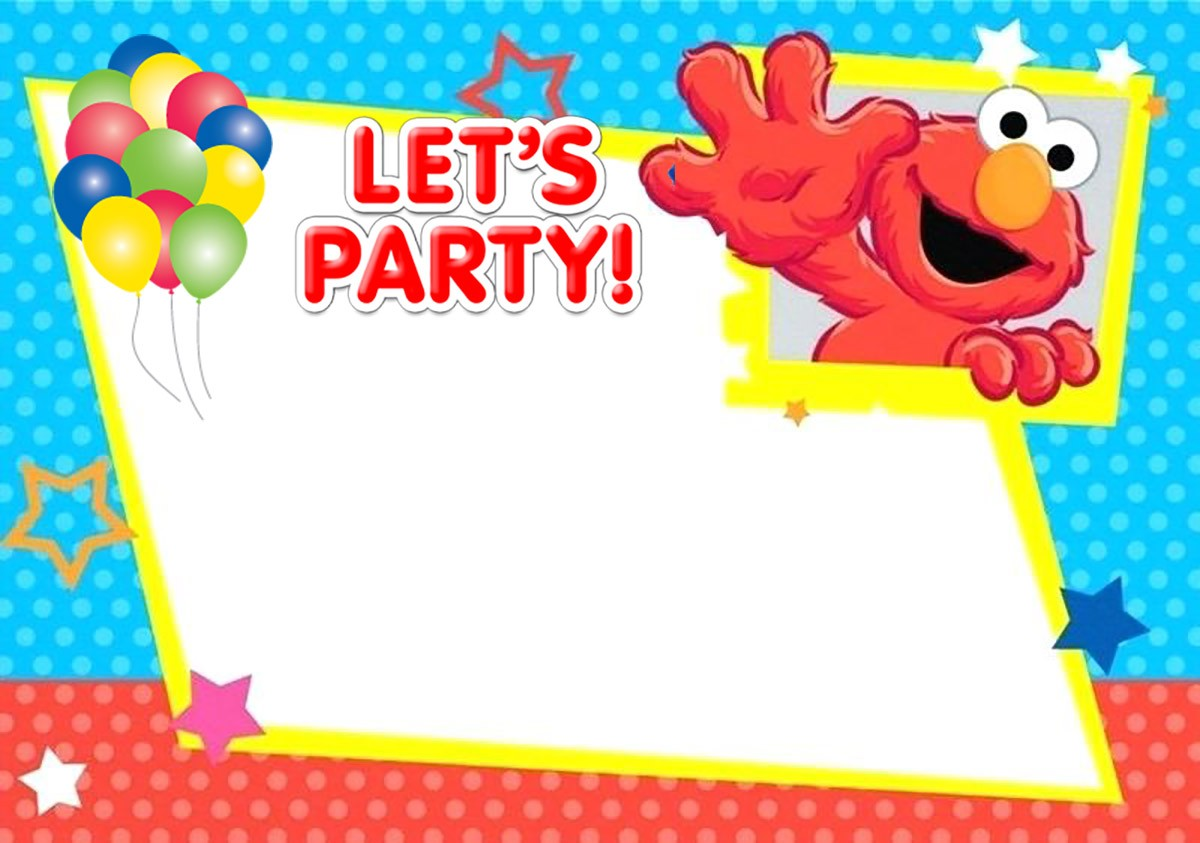 Free Printable Elmo Birthday Invitation Card