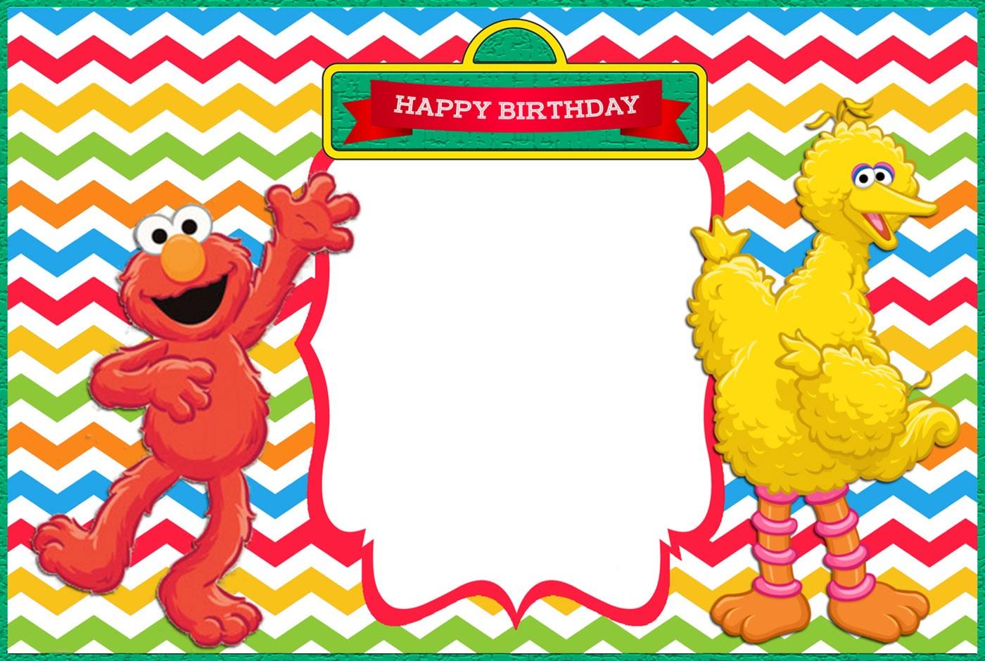 Free Printable Elmo Birthday Invitation Template | Invitations Online