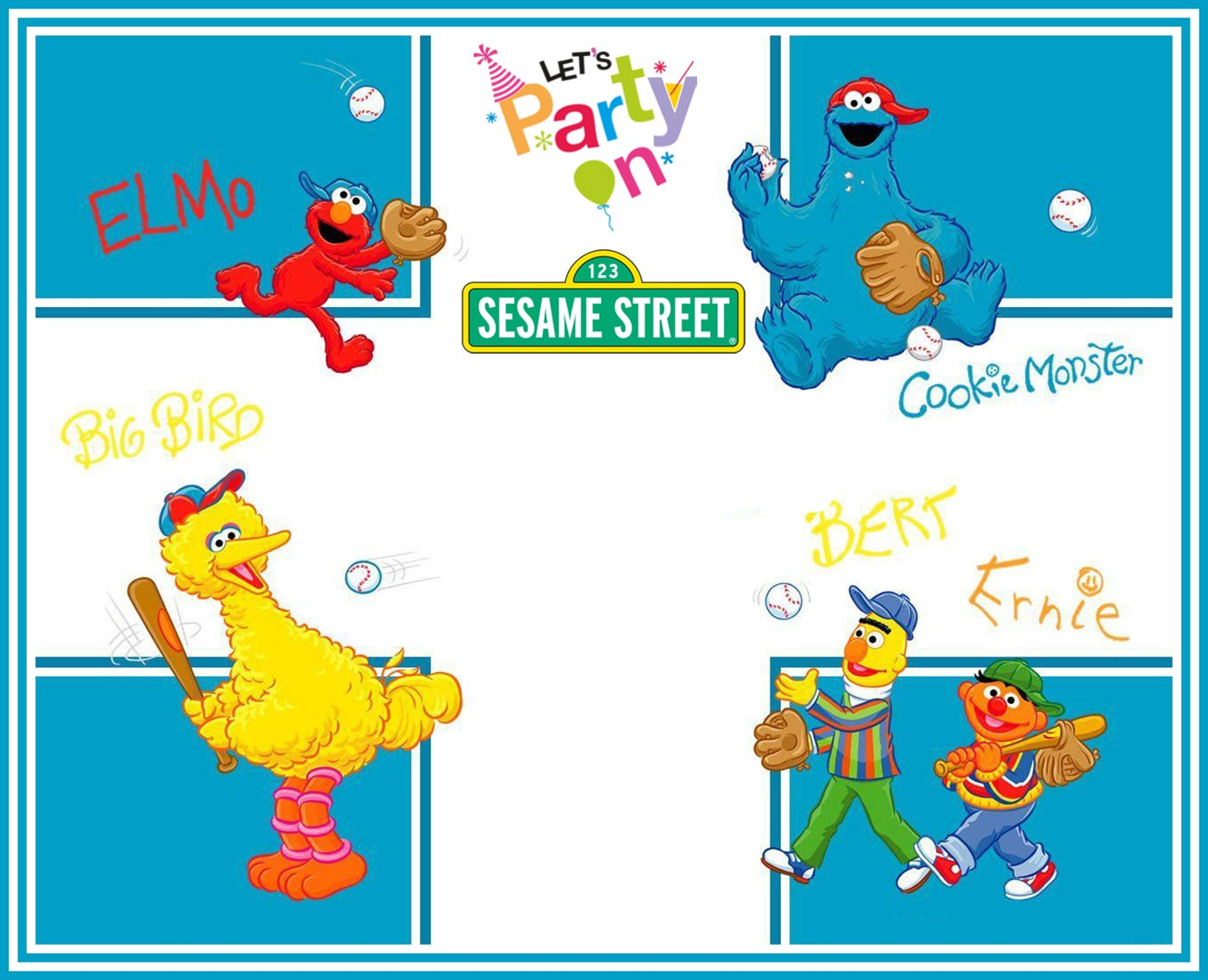 Free Printable Sesame Street Party Invitation Template | Invitations ...