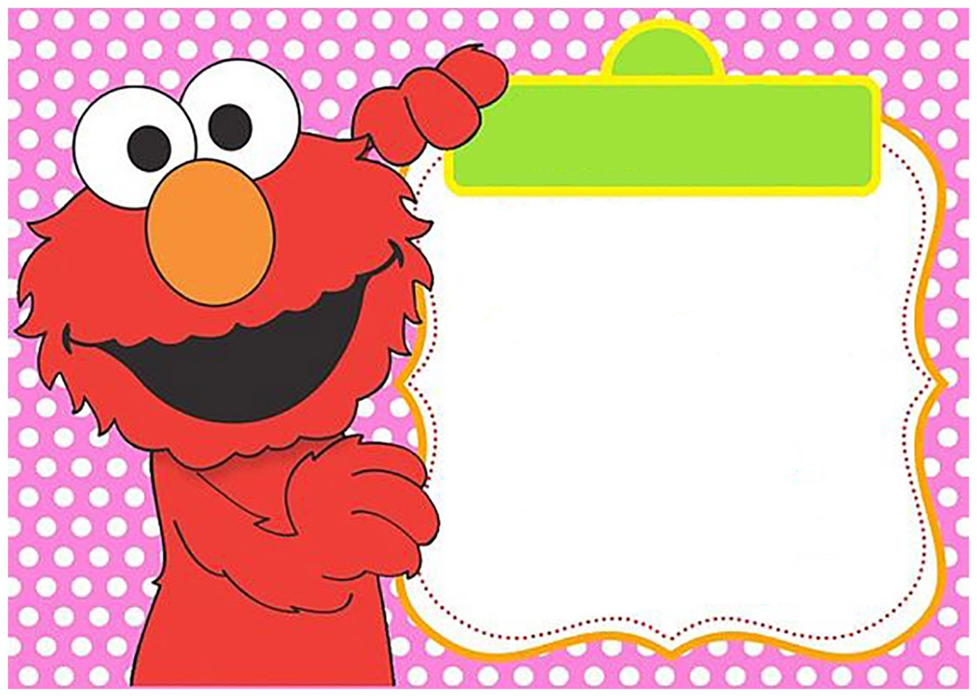 Free Printable Elmo Invitation Templates | Invitations Online