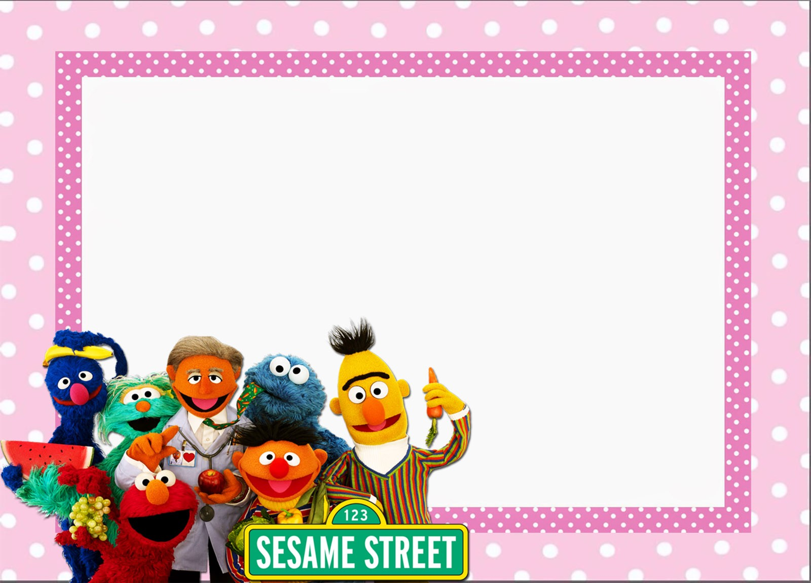 Free Printable Sesame Street Invitation Templates ...