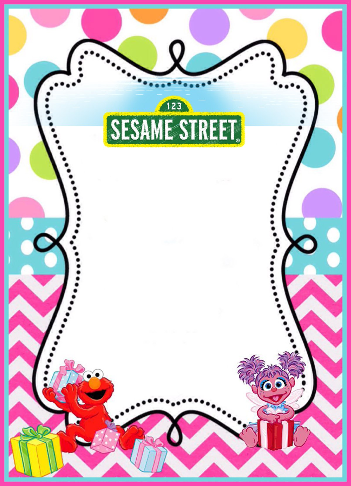 pages templates free printable sesame invitation templates 23883 | Printable Sesame Street Party Invitation Template