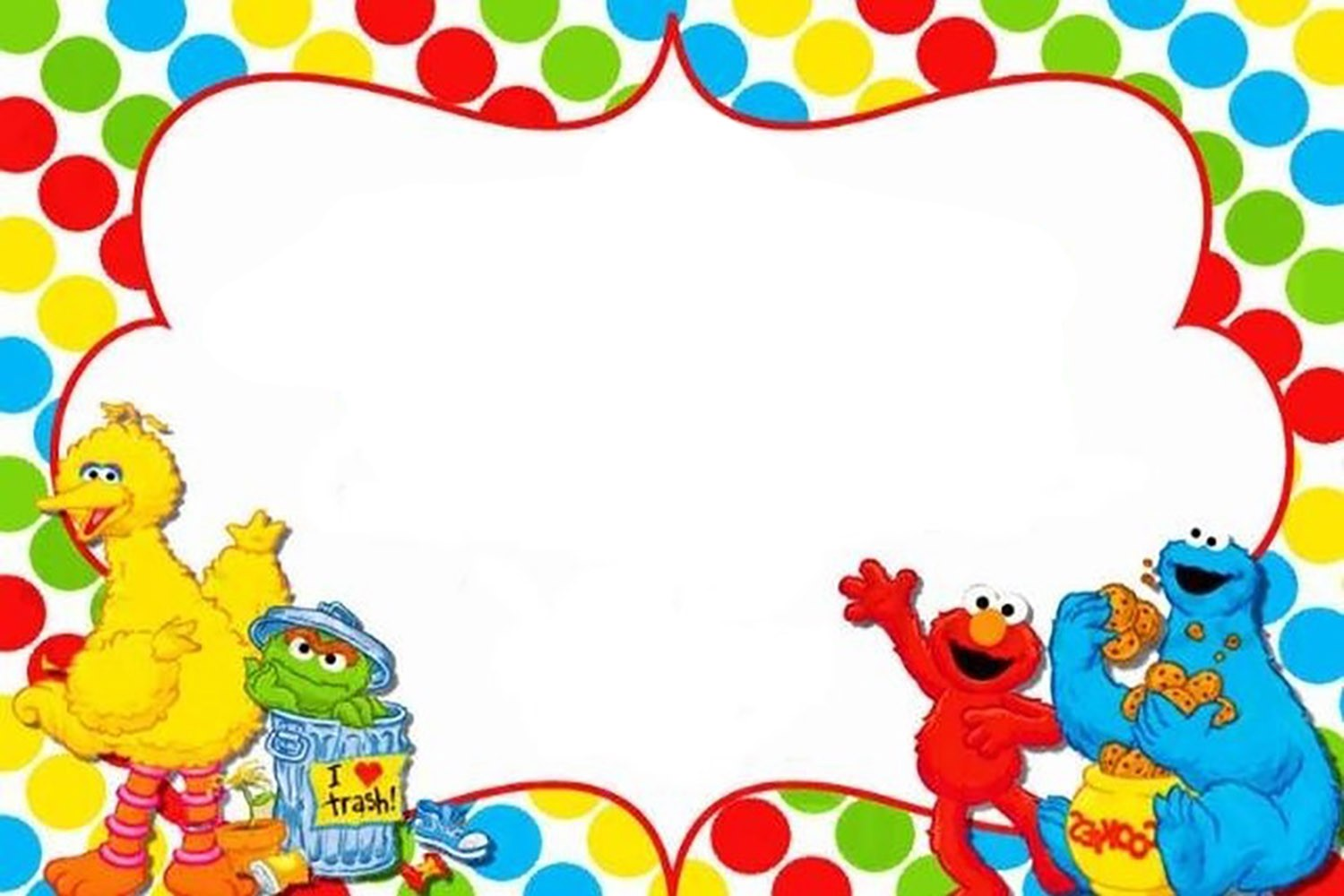 free printable sesame street invitation templates
