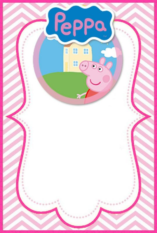 incredible peppa pig invitation templates