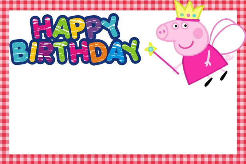 Incredible Peppa Pig Invitation Templates - Free and Printable ...