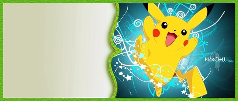 Pikachu Pokemon Invitation Template